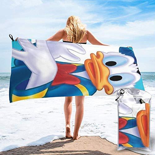 AOOEDM Dibujos animados Donald Duck Toallas de baño de secado rápido Toalla deportiva de viaje liviana y portátil Secado rápido rápido iexcl; curren; Super Absorbent iexcl; curren; Ultra Compact iexcl