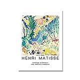 Cartel de geometría de curva abstracta, carteles e impresiones de estilo colorido de Matisse, artista de pared, casa, lienzo sin marco, pintura A4 70x100cm