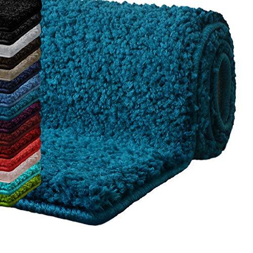 casa pura Bath Mats for Bathroom – 30' x 45' Teal Bathroom Rug | Ultra Absorbent, Self-Dry Microfiber, Non-Slip Bath Mats for Floors | Bath Rugs in 10 Fresh Colors