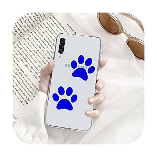 Perro huella de dibujos animados lindo teléfono Fundas transparentes para Samsung A71 S9 10 20 HUAWEI p30 40 honor 10i 8x xiaomi note 8 Pro 10t 11-a8-samsung s20