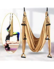 TTLIFE Aerial Yoga Hangmat Set, inclusief 4 karabijnhaken met gladde randen, antigravity Yoga Inversion Fitness voor thuis, Gym, Outdoor