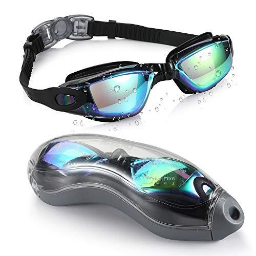 Gafas de Natación,protección Anti-vaho protección UV sin filtraciones visión Clara fáciles de Ajustar con Puente Nasal Suave para Hombres, Mujeres, Adultos y Adolescentes