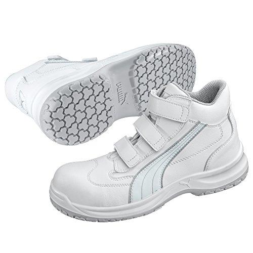 Puma Safety Sicherheitsschuhe White'N Service Absolute Mid S2 63.018.2, Hochschuhe, weiß, Größe  44, 47-630182-44