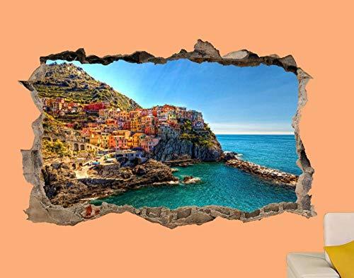 MXLYR Pegatinas de pared Cinque Terre Park Etiqueta de la pared Habitación Oficina Decoración Calcomanía Mural