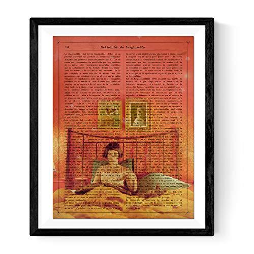 Nacnic Lámina para enmarcar Amélie. Poster tamaño A3 con Imagen de la película. Papel 250 Gramos tintas Resistentes