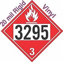 GC Labels-R309c3295, Flammable Class 3 UN3295 20mil Rigid Vinyl DOT Placard, each Placard