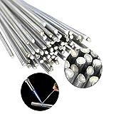 Zent Easy Melt Varillas de soldadura Varilla de 2 mm Soldadura de aluminio con núcleo fundente de alambre Electrodos para soldadura de aluminio Soldadura a baja temperatura, juego de 20 piezas, 2,0 mm