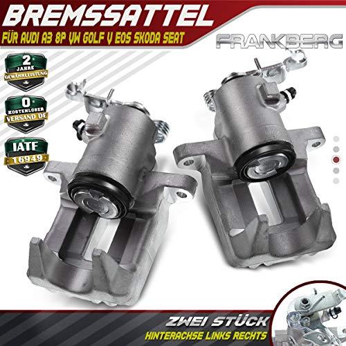 2x Bremssattel Bremszange Hinten Links + Rechts für A3 Golf V VI Jetta Beetle Altea Leon Octavia II 2003-2019 1K0615423D