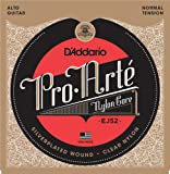 D'Addario EJ52 - Juego de cuerdas para guitarra clásica de entorchado plateado, Transparente