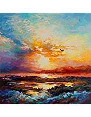 Bestmaple 5D DIY Diamond Painting by Number Kits Full Diamond Embroidery Paintings Pictures Arts Craft for Home Wall Decor(Landscape 16×20inch)