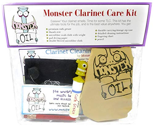 Monster Clarinet Care and Cleaning Kit | Wood or Composite, Cork Grease, and More! Everything You Need to Take Care of Your Clarinet