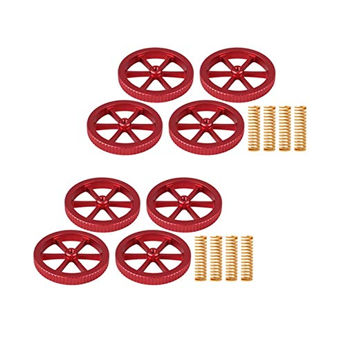 Viudecce 8Pcs Screws Nuts Heat Bed Leveling Spring Knob Part Components 3D Printers Parts Print Platform Calibration Accessories