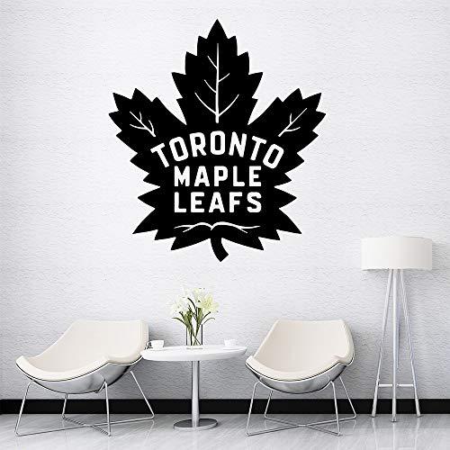 BailongXiao Creativo Toronto Maple Leaf Etiqueta de la Pared de Dibujos Animados Mural Art Poster para Sala de niños Sala de Estar decoración del hogar Arte de la Pared calcomanía 28x31cm