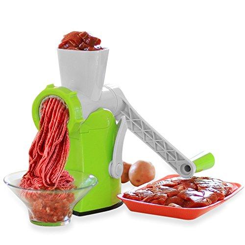 Zalik 4-In-1 Meat Grinder And Juicer - Hand Crank...