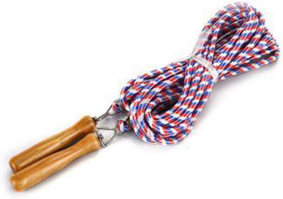 CZ-XING Grupos de cuerda de saltar y multijugador cuerda de saltar mango de madera cuerda larga 5 metros -7 metros -10 metros