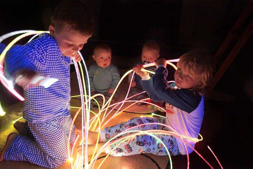 Affordable UV Reactive Fiber Optic Sensory sideglow Lighting Kit (200 Strands x 6.56') with 75W Tung...