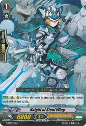 Cardfight   Vanguard TCG - Knight of Steel Wing (G-TD02 011EN) - G Trial Deck 2  Divine Swordsman of the Shiny Star by Cardfight   Vanguard TCG