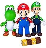 Pantyshka 7 PCS Mario and Luigi Toys Figurines – Super Mario Action Figures Toys – Yoshi & Mario Bros – Mario Toy for Boys – Premium Mario Cake Toppers Decoration