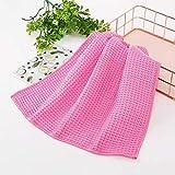 Trapo de cocina de fibra fina Paño de lavado de vajilla para el hogar Paño de limpieza de vidrio para automóviles 30x30cm 40pcs rojo