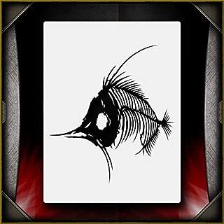 Fish Bones 2 AirSick Airbrush Stencil Template