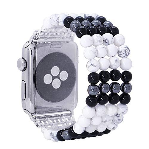 DXFFOK-UE NaturalTurquoise Piedra Banda elástica for la Serie del Reloj de Apple 1/2/3 42mm 38mm Pulsera Correa for IWATCH 44mm 40mm 4/5 Correas de Reloj