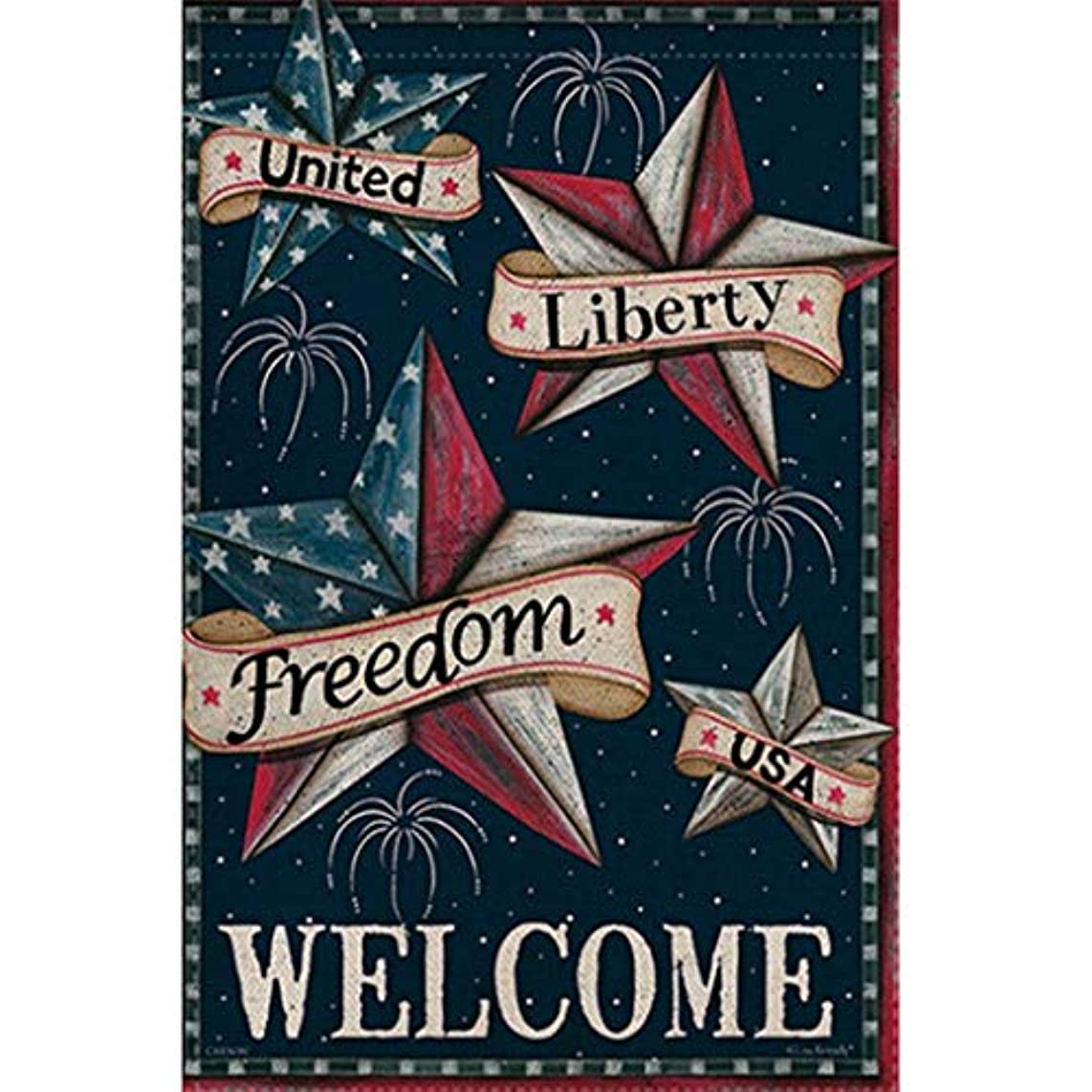 Peize 5D DIY Diamond Painting Full Square Drill American Flag Rhinestone Embroidery for Wall Decoration