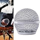 Rejilla de metal de repuesto para micrófono Shure SM58 CN para karaoke de escenario, grabación, voz, boda, interior y exterior, 2 unidades
