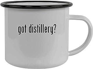 got distillery? - Stainless Steel 12oz Camping Mug, Black