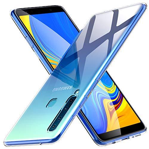 Peakally Funda Samsung Galaxy A9 2018, Transparente Silicona Funda para Samsung Galaxy A9 2018 Carcasa Flexible Claro Ligero TPU Fundas [Antideslizante] [Resistente a arañazos] -Transparente