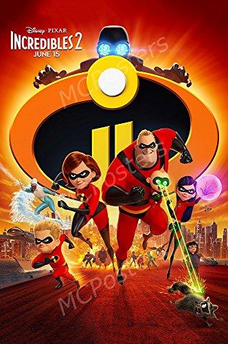MCPosters Disney Pixar Incredibles 2 GLOSSY FINISH Movie Poster - FIL988 (24' x 36' (61cm x 91.5cm))
