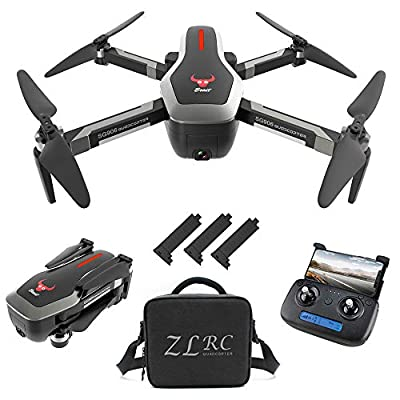 GoolRC SG906 GPS RC Drone with 4K HD Front Camera and 720P Down-Looking Camera, 5G WiFi FPV Foldable Brushless Drone, Optical Flow Positioning Altitude Hold RC Quadcopter with Handbag and 3 Battery by GoolRC