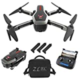 GoolRC SG906 GPS RC Drone with 4K HD Front Camera and 720P Down-Looking Camera, 5G WiFi FPV Foldable Brushless Drone, Optical Flow Positioning Altitude Hold RC Quadcopter with Handbag and 3 Battery