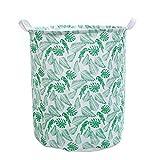 Cesta de lavandería, estilo nórdico de gran tamaño ropa sucia ropa de lavandería verde juguetes plegables, organizar un cubo de almacenamiento a prueba de agua, cañón de la decoración del hogar lucar