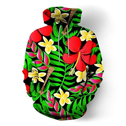 Sweatshirt Herren Hoodie Herren Casual Comfortable Sports Style Herren Hoodie Herbst Neu Drucken Trend Komfortables Soft Loose Pocket Herren Hooded Sweatshirt D-Green 3XL