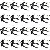 20 clips de zócalo de cocina y soporte para 30 – 31 mm de diámetro + 40 tornillos.