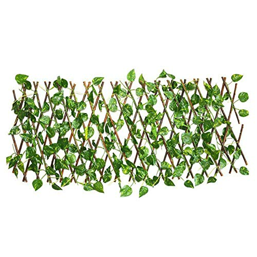 seawood Extendable Trellis with Artificial leaves Expanding Garden Fence Fake Ivy Screening Decorative Privacy Fences for Indoor Outdoor Garden Wedding Festival Greenery Walls Decor 1