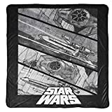 Jay Franco Star Wars Vehicle Blanket - Measures 90 x 90 inches, Bedding - Fade Resistant Super Soft Fleece (Official Star Wars Product)