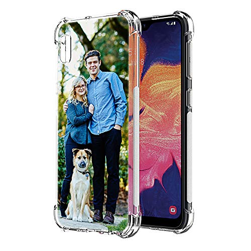 Custom Case Compatible with Samsung Galaxy A10e 5.9 inch Cover Anti-Scratch Soft TPU Clear Personalized Photo Customize Your Own Picture Phone Cases