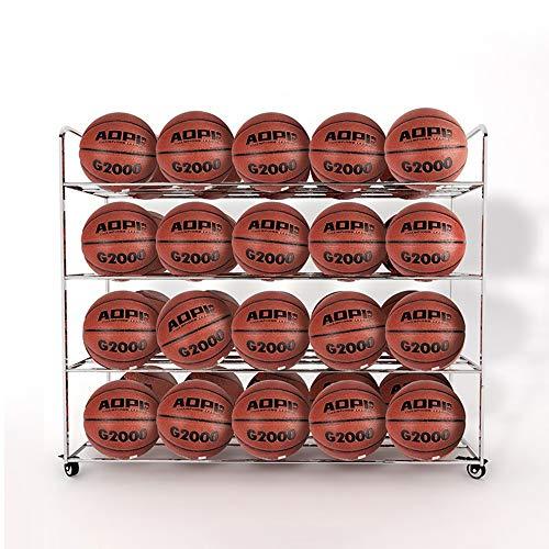 Pelota Carro Baloncesto Armarios Metal Fútbol Bola del Voleibol en Rack de Acero Inoxidable de la Compra Estante de exhibición del Estante de la Bola móvil Carros portabalones