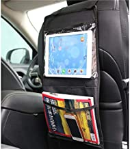 Back Seat Organizer for Vehicle – Car Auto Backseat Touch Screen Tablet iPad Holder for Kids to Keep Them Entertained Multi-Pocket Travel Trash Storage Magazine Holder Hanging Car Seat