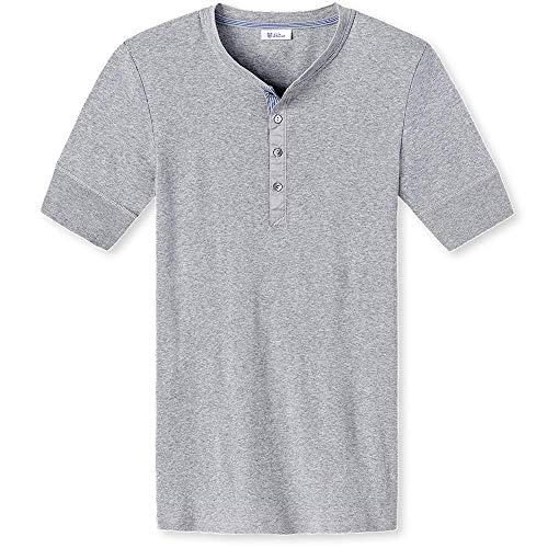 Schiesser, Herren Shirt Karl-Heinz, halbarm, Grau Melange, 7/XL