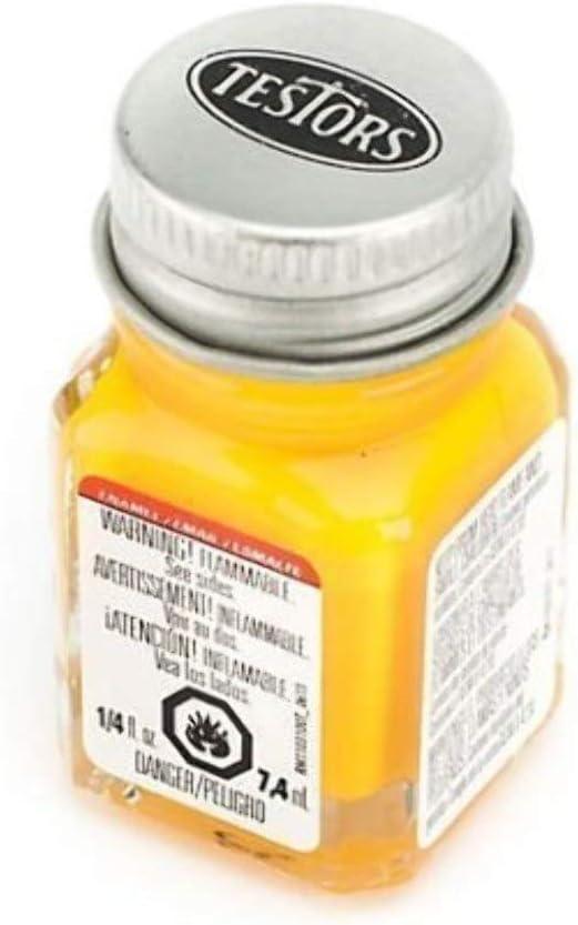 Gorgeous Testors Enamel 4 years warranty Paint Flat 1 4-Ounce Yellow