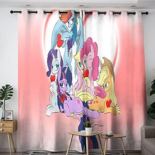 Cortinas opacas en el dormitorio/sala de estar, My Little Pony Friendship is Magic Papel pintado elegante para dormitorio, sala de estar, 213 x 213 cm