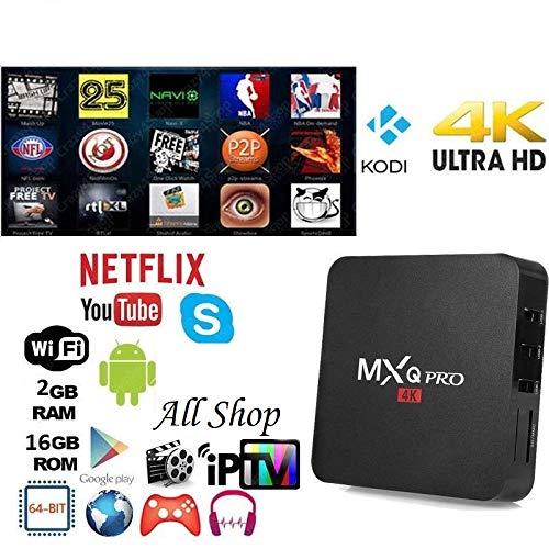 All Shop MXQ Pro 4K 2GB Smart TV Box IPTV Stream Box XBMC Android 7.1 64bit WiFi 16GB MiniPC: Amazon.es: Electrónica