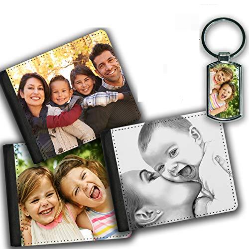 Personalisierte Bildermappe für Männer, tolles Geschenk für Vater, Ehemann, Freund | mit Metall-Schlüsselring | Geschenke für Männer | Vatertagsgeschenke