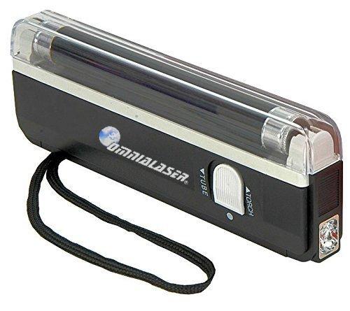 OmniaLaser OL-UVMONEY - Llámpara de Wood UV Ultravioleta Detector de Billetes Falsos con Linterna LED