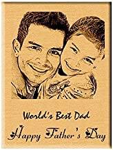 Incredible Gifts India Personalized Engraved Photo Plaque (Wood, 5x4 inches, Brown)