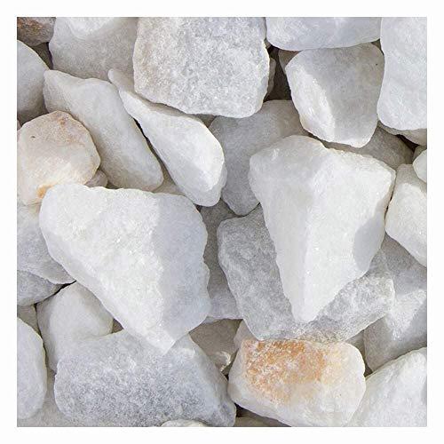 Marmor Weiss Ziersplitt 1500kg Big Bag 9-12mm, 15-25mm und 25-40mm (25-40mm)