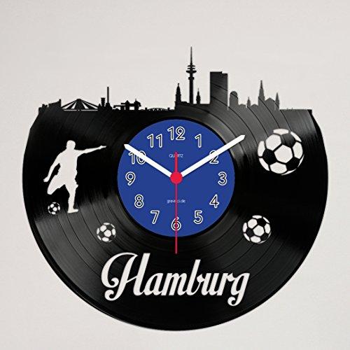 Gravinci.de Schallplatten-Wanduhr Hamburg Fan
