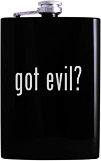 got evil? - 8oz Hip Alcohol Drinking Flask, Black